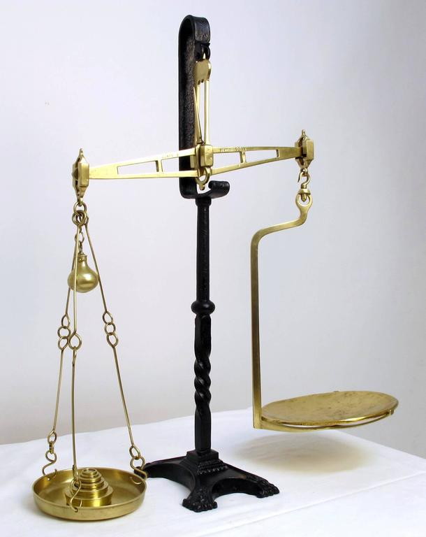 18th century brass balance scale for sale at 1stdibs