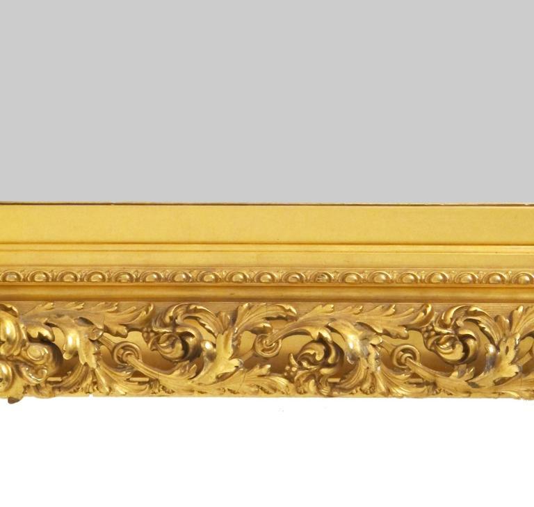 Wood 19th Century Gilt Mirror For Sale