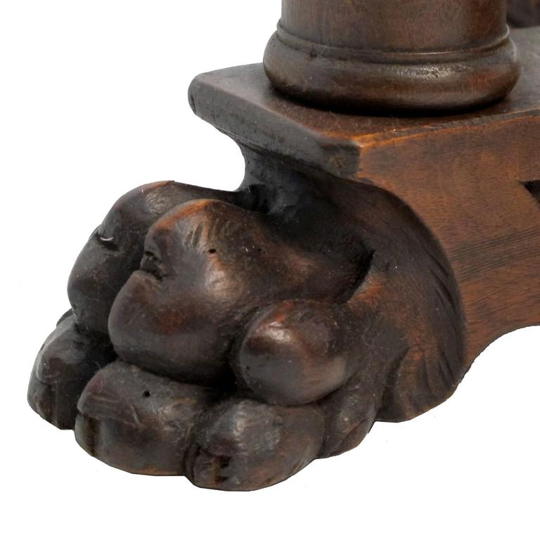19th Century Italian Walnut Centre Table For Sale 1