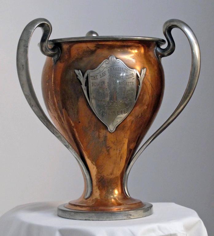 Antique San Francisco Yacht Club Trophy Loving Cup, 1908 3