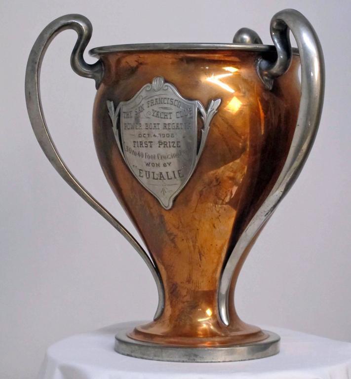 Antique San Francisco Yacht Club Trophy Loving Cup, 1908 2