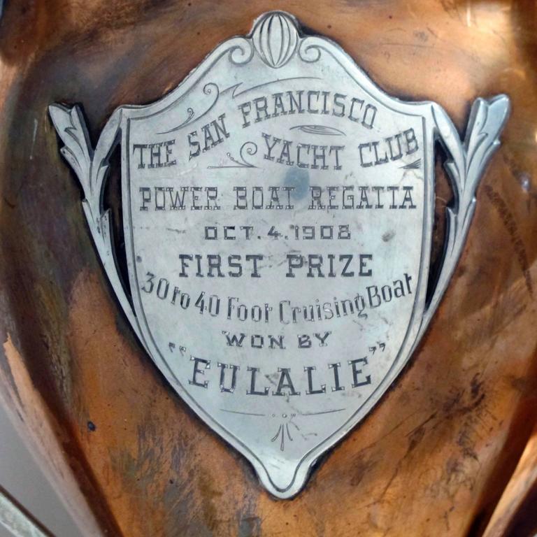 Antique San Francisco Yacht Club Trophy Loving Cup, 1908 4