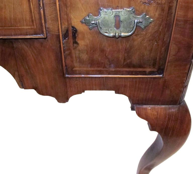 18th Century and Earlier George II Burl Walnut Lowboy For Sale