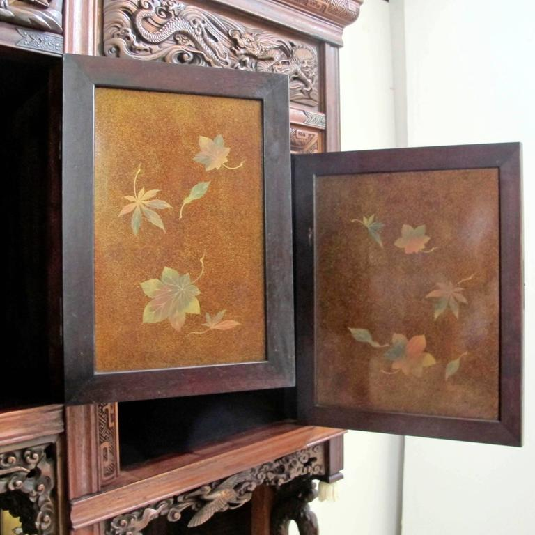 Japanese Shibayama Cabinet, Meiji Period In Excellent Condition For Sale In San Francisco, CA