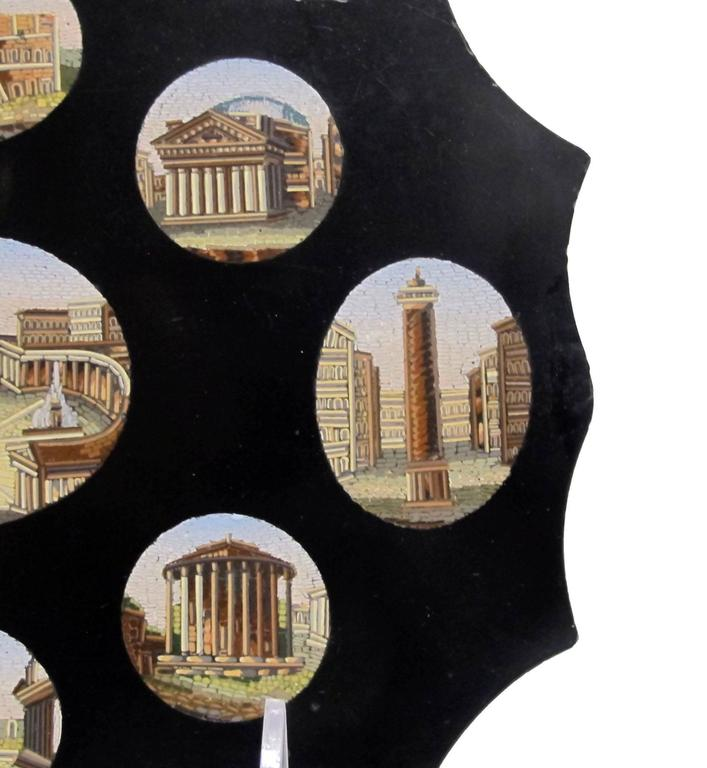 Italian Grand Tour Micro Mosaic Plaque In Excellent Condition For Sale In San Francisco, CA