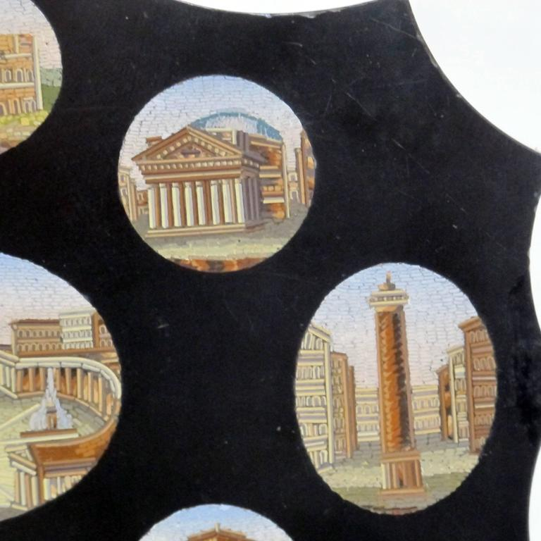 19th Century Italian Grand Tour Micro Mosaic Plaque For Sale
