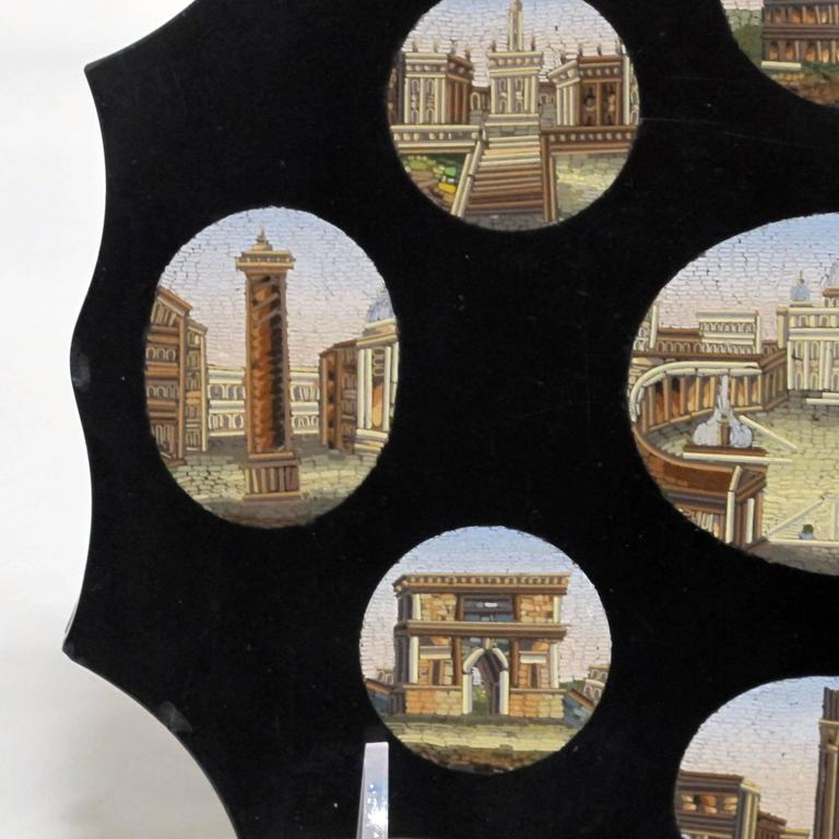 Glass Italian Grand Tour Micro Mosaic Plaque For Sale