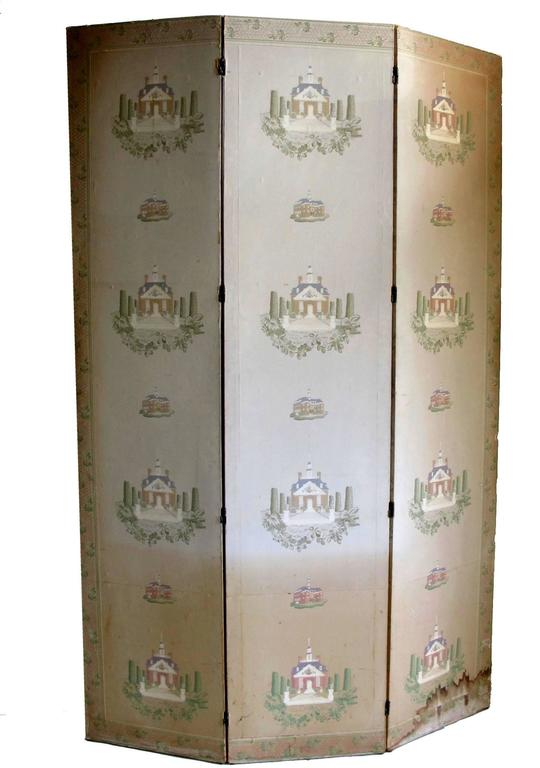 19th Century English Papier Peints Wallpaper Panels Screen 3