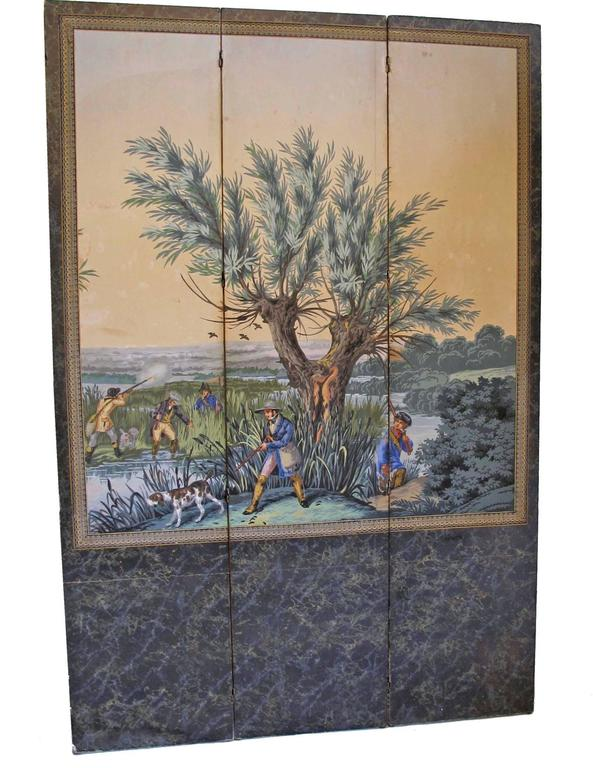 19th Century English Papier Peints Wallpaper Panels Screen 2