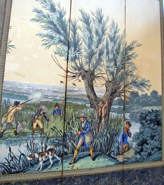 19th Century English Papier Peints Wallpaper Panels Screen 5
