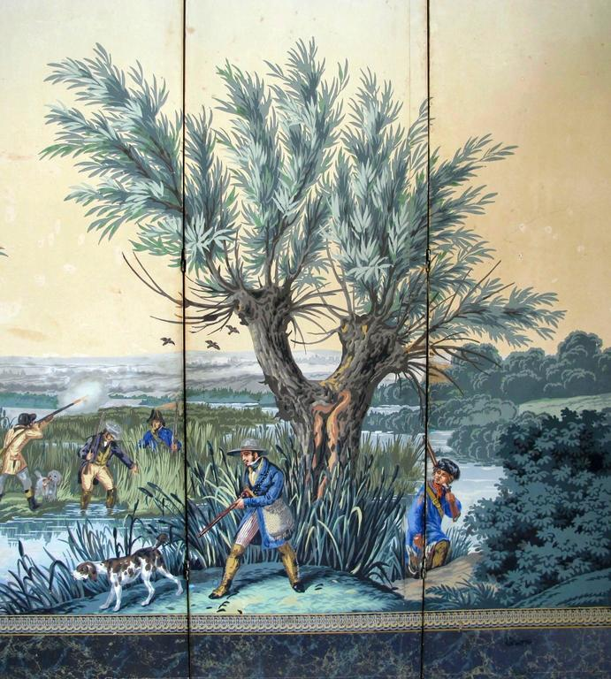 19th Century English Papier Peints Wallpaper Panels Screen 4