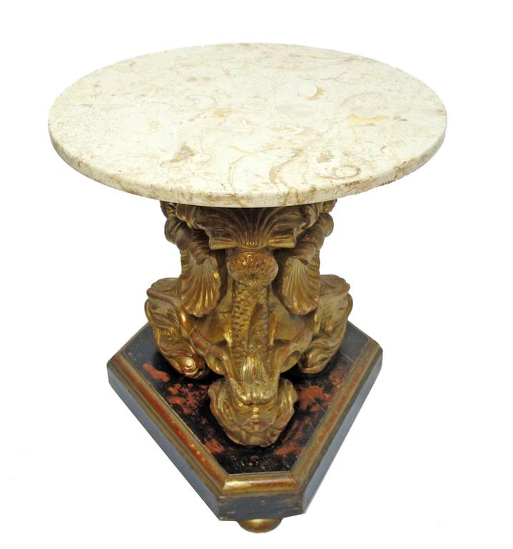 19th Century Italian Giltwood Side Tables 5