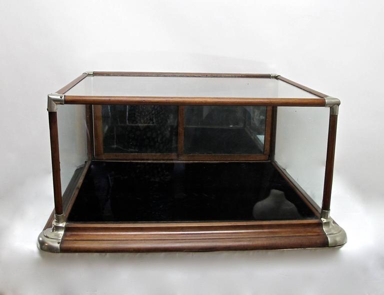 Antique American Oak Display Case At 1stdibs