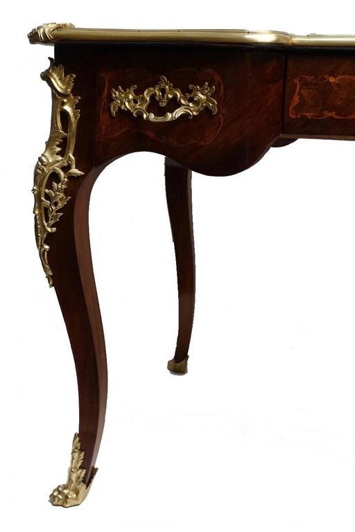 French Louis XVI Style Rosewood Bureau Plat Desk For Sale 2