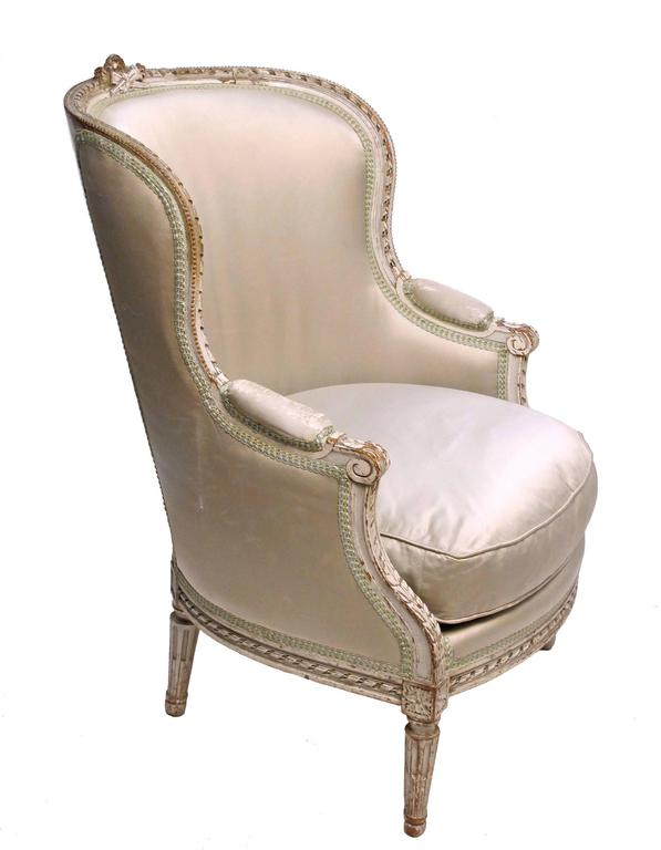 louis xvi style bergere chair french circa 1920 at 1stdibs. Black Bedroom Furniture Sets. Home Design Ideas