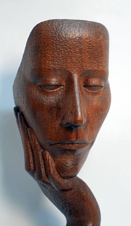Mid-Century Wood Sculpture by Peter Ganine 3
