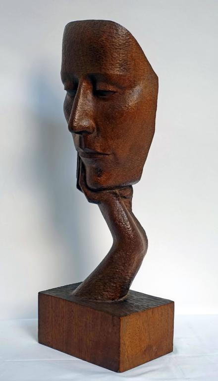 Mid-Century Wood Sculpture by Peter Ganine 4