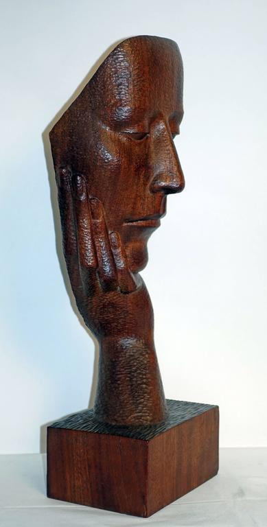 Mid-Century Wood Sculpture by Peter Ganine 5