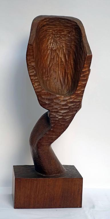 Mid-Century Wood Sculpture by Peter Ganine 8