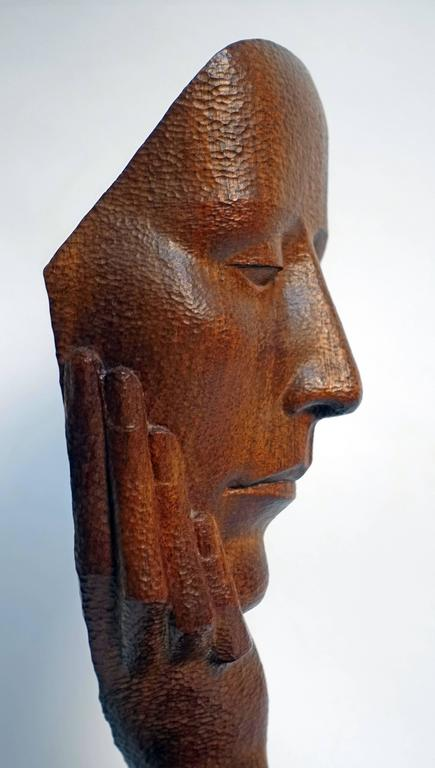 Mid-Century Wood Sculpture by Peter Ganine 7