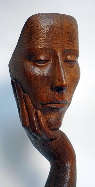 Mid-Century Wood Sculpture by Peter Ganine 6