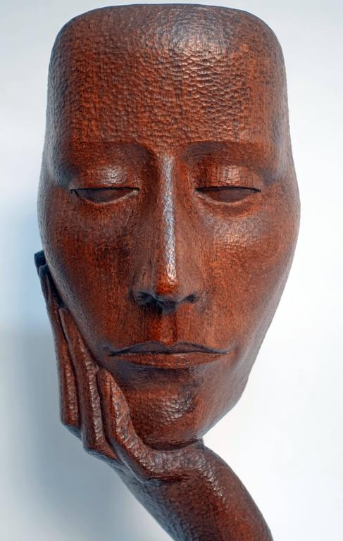 Mid-Century Wood Sculpture by Peter Ganine 2