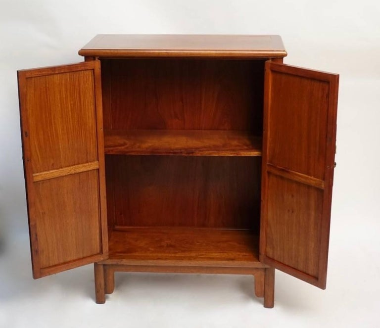 Pair of Mid-Century Chinese Teak Wood Cabinets 6