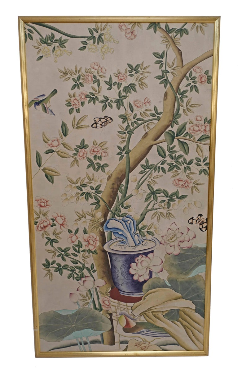 20th Century Chinese Wall Paper Panels For Sale