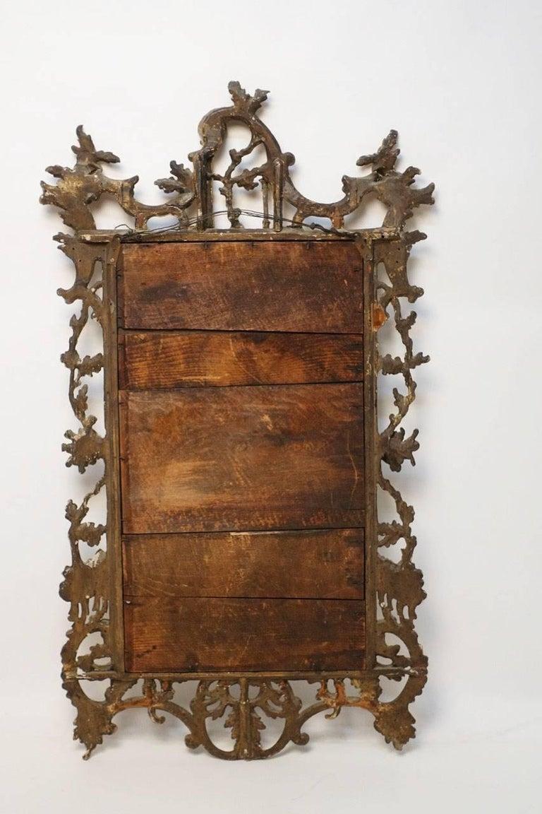 18th Century Italian Rococo Gilt Mirror For Sale 1