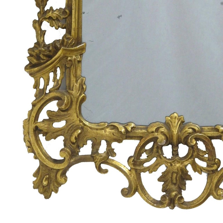 18th Century Italian Rococo Gilt Mirror For Sale 2