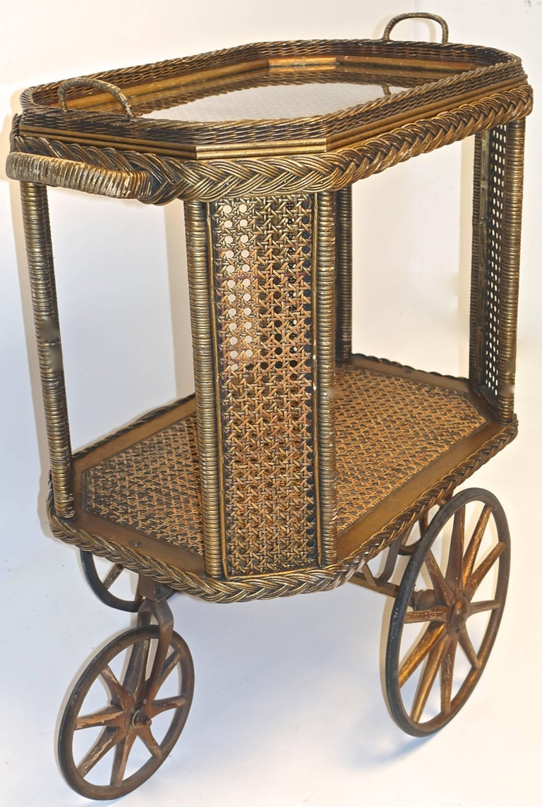 American Heywood Bros. Wakefield Co Drinks Cart, Original For Sale