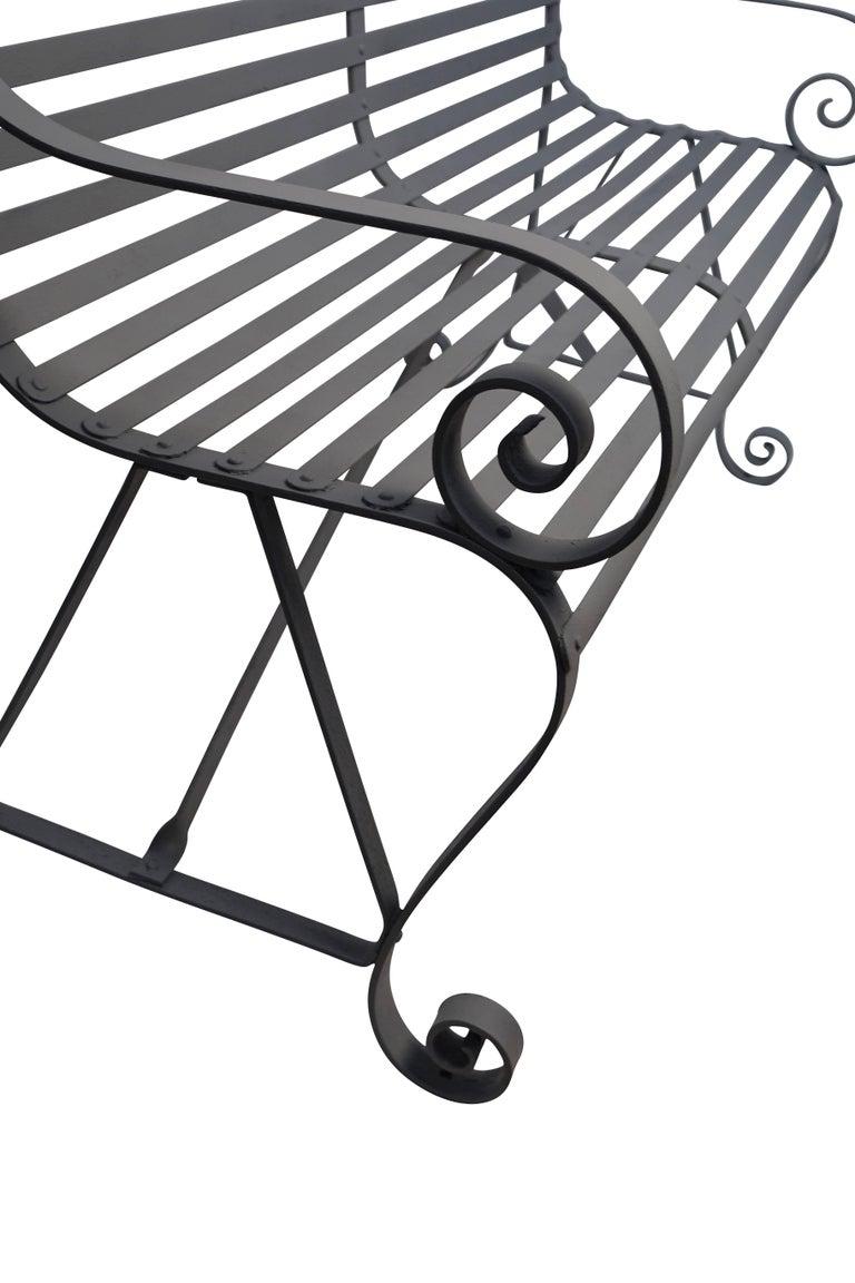 19th Century Iron Garden Bench For Sale 1