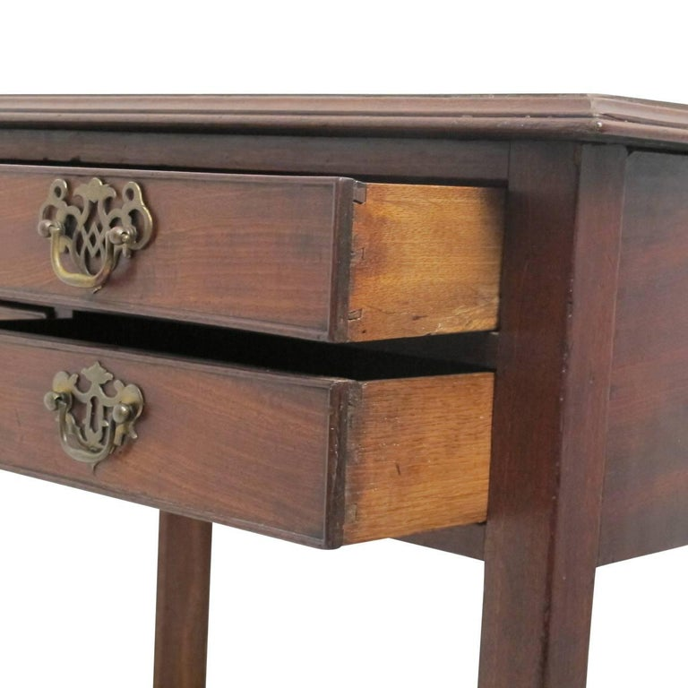 19th Century Georgian Mahogany Side Table For Sale 1