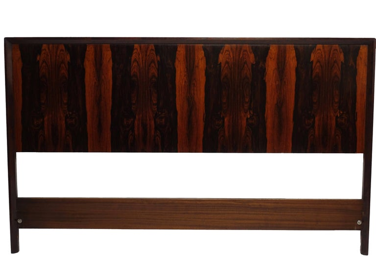 Mid-Century Modern Midcentury Queen Size Rosewood Headboard Westnofa of Norway For Sale