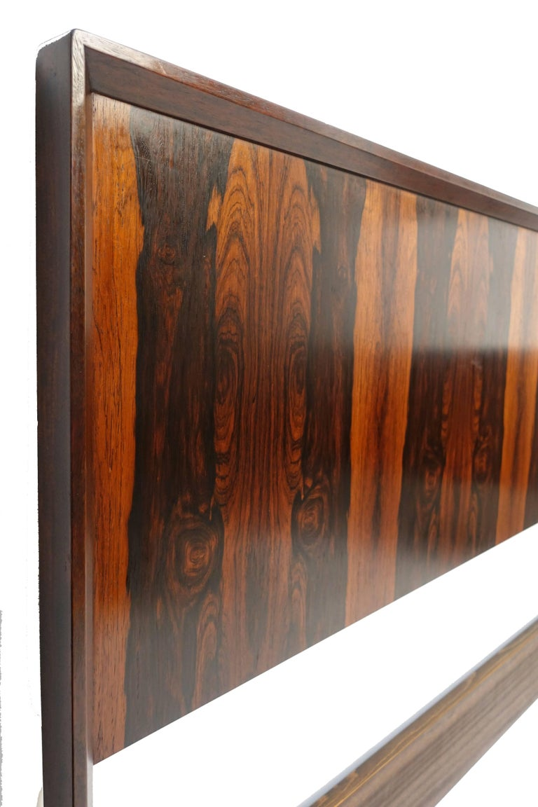Midcentury Queen Size Rosewood Headboard Westnofa of Norway In Excellent Condition For Sale In San Francisco, CA