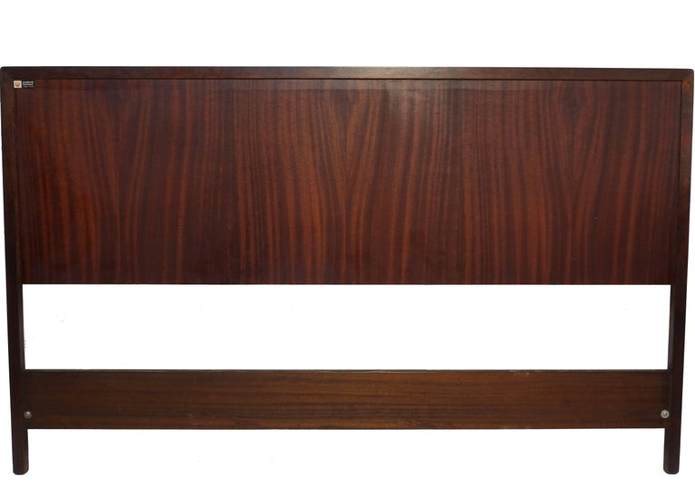 20th Century Midcentury Queen Size Rosewood Headboard Westnofa of Norway For Sale