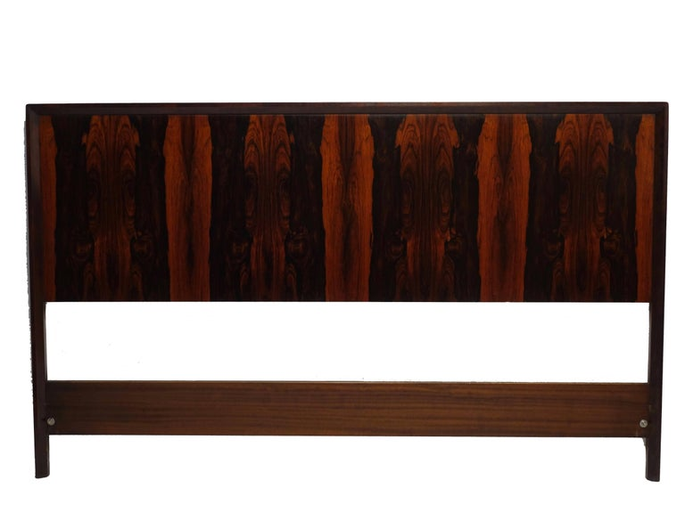 Midcentury Queen Size Rosewood Headboard Westnofa of Norway For Sale 1