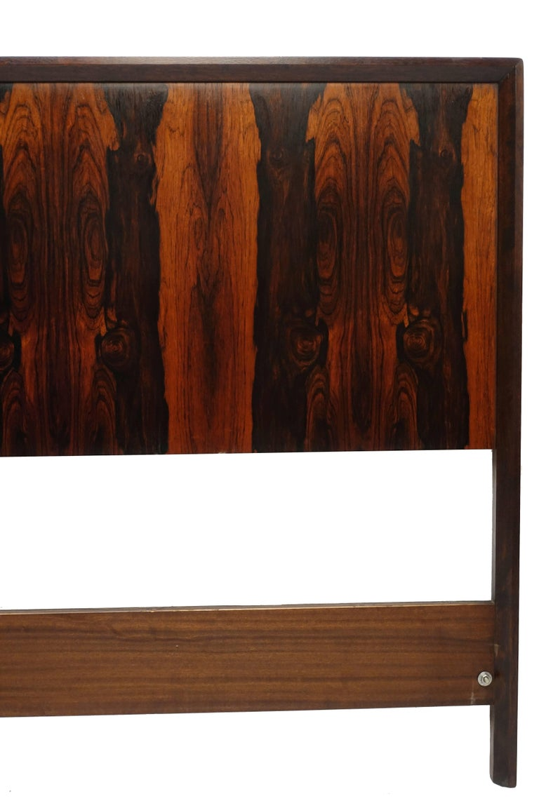 Midcentury Queen Size Rosewood Headboard Westnofa of Norway For Sale 3