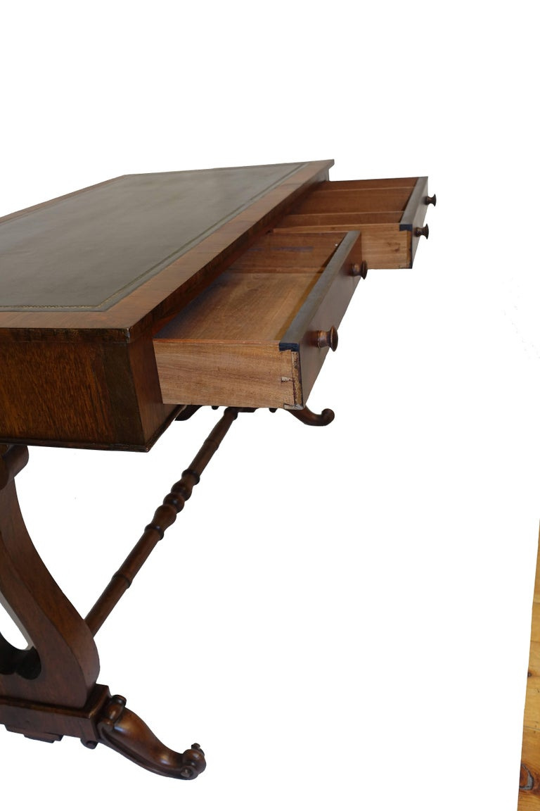 Regency Rosewood Sofa Table or Gentleman's Desk, English 19th Century For Sale 2
