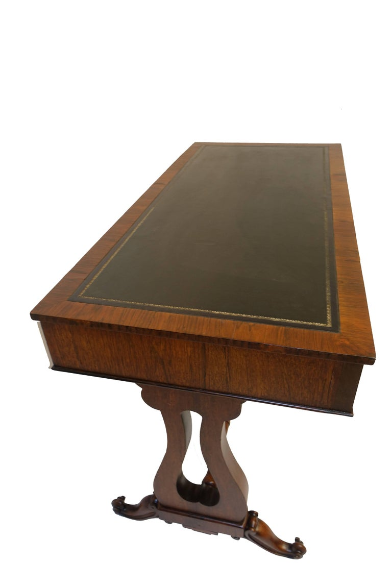 Regency Rosewood Sofa Table or Gentleman's Desk, English 19th Century In Excellent Condition For Sale In San Francisco, CA