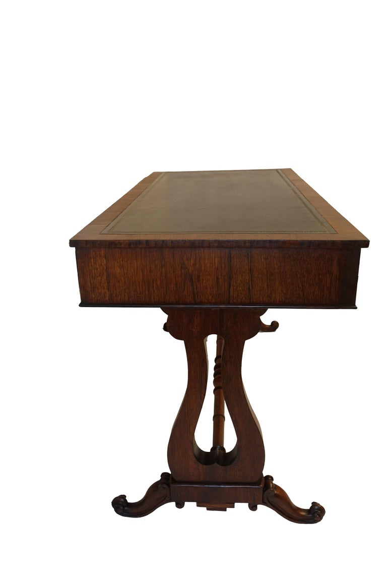 Regency Rosewood Sofa Table or Gentleman's Desk, English 19th Century For Sale 1