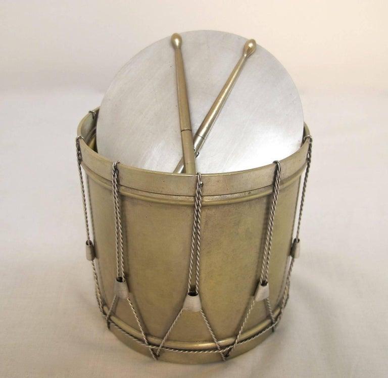 19th Century Drum Shape Silver Gilt Bronze Box 7