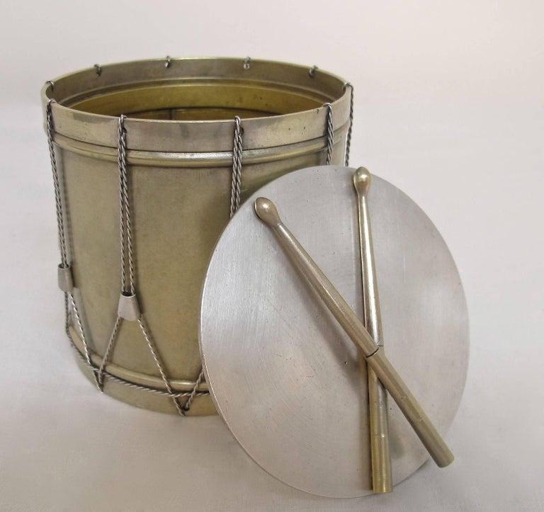 19th Century Drum Shape Silver Gilt Bronze Box 9