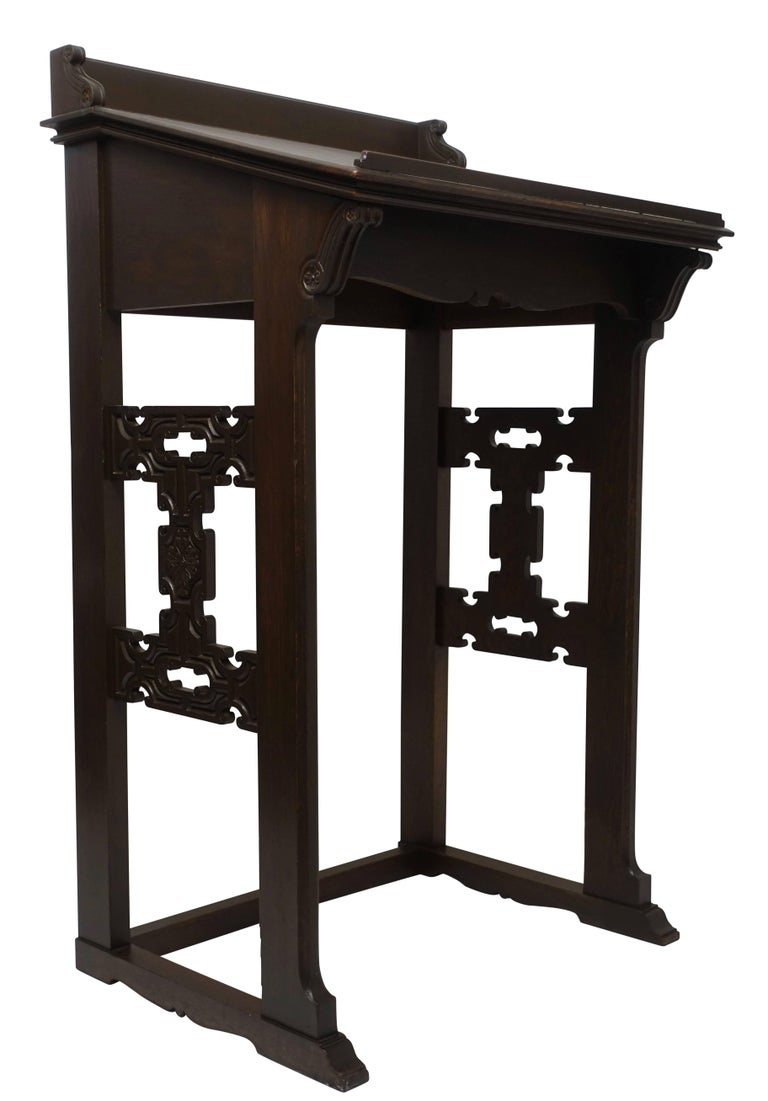 Carved Oak Podium or Lectern, American, 19th Century For Sale 1