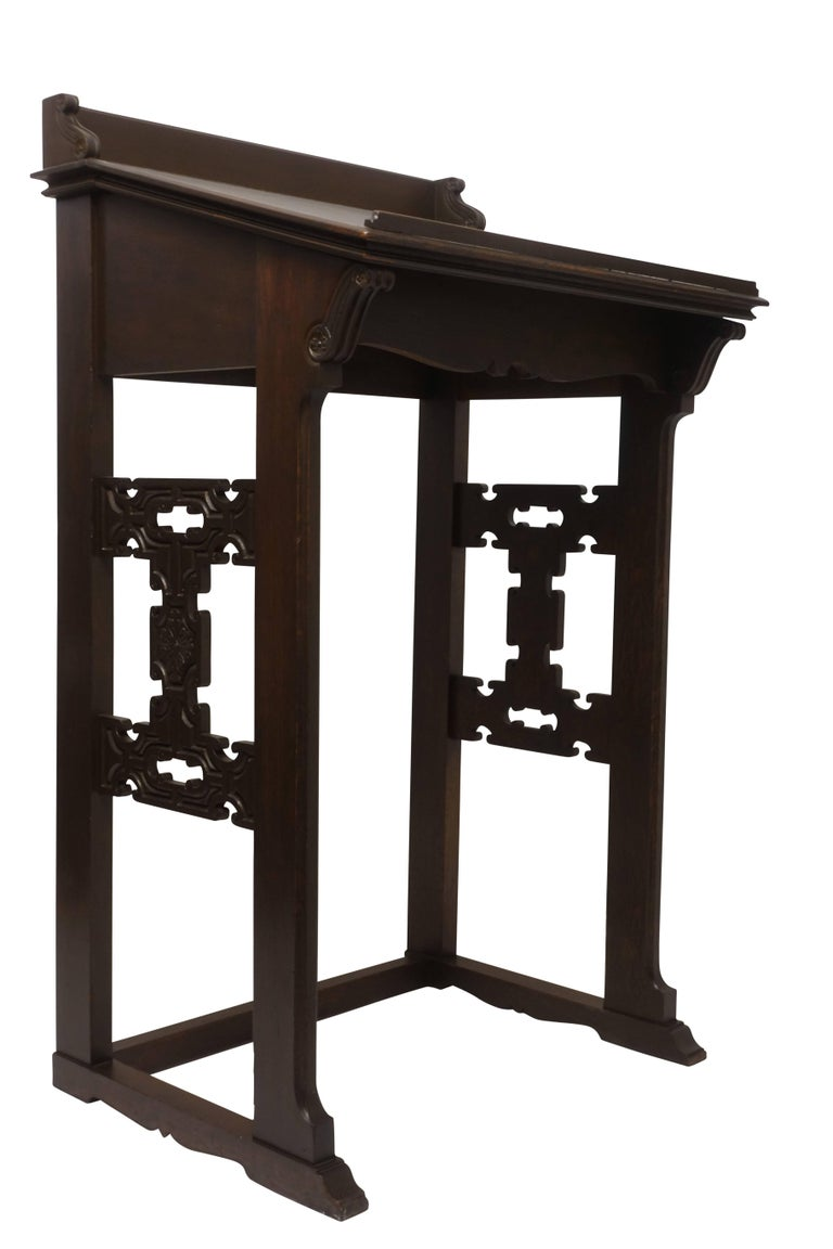 Carved Oak Podium or Lectern, American, 19th Century For Sale 2