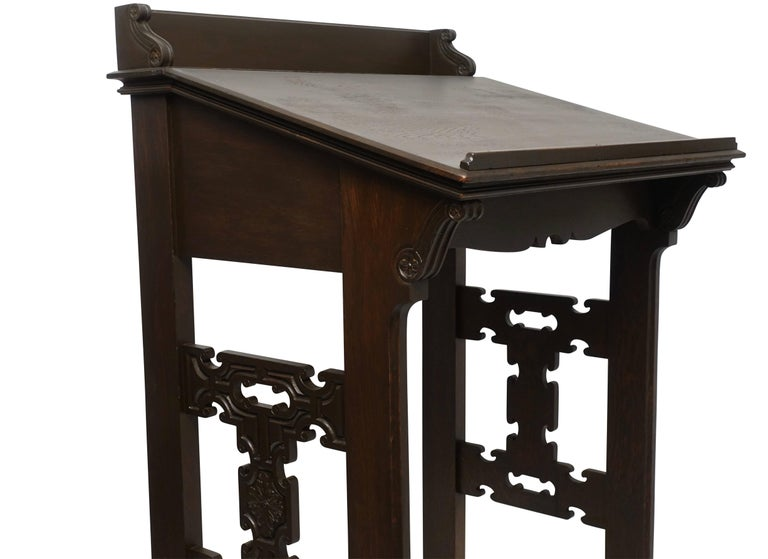 Carved Oak Podium or Lectern, American, 19th Century In Excellent Condition For Sale In San Francisco, CA