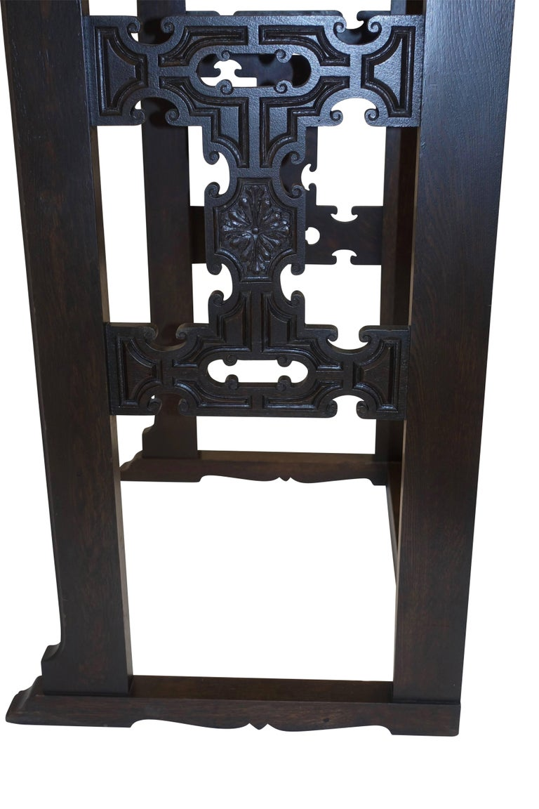 Carved Oak Podium or Lectern, American, 19th Century For Sale 3
