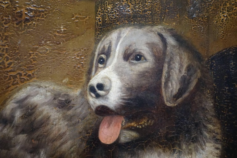English Dog Portrait Painting, 19th Century, England For Sale
