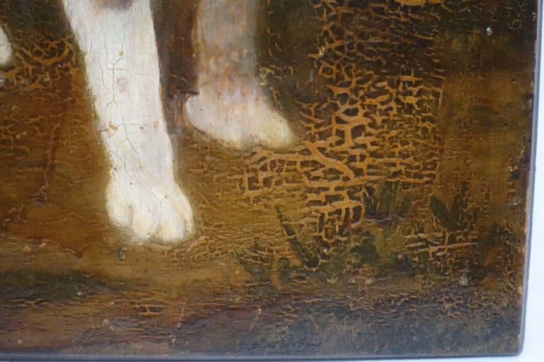 Dog Portrait Painting, 19th Century, England In Good Condition For Sale In San Francisco, CA
