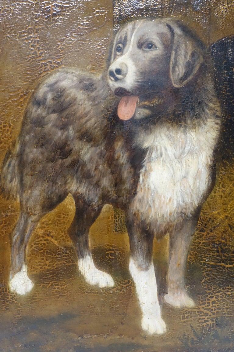 Dog Portrait Painting, 19th Century, England 2